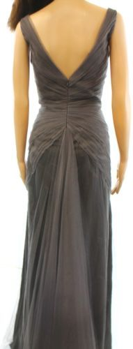 535db35d058 DESIGNER Gray Ruched Tulle Women s Size 6 Bridesmaids Ball Gown  827