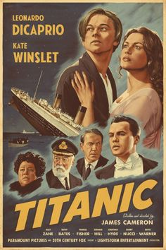 Titanic Titanic Movie Poster, Titanic Film, Movie Poster Art, Cool Movie Posters, Poster Series, Poster Poster, Cinema Posters, Poster Wall, Posters Vintage