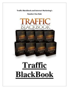 #TrafficBlackbook by Chad Hamzeh