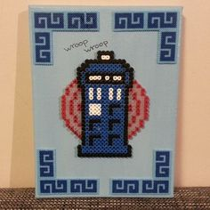 Doctor Who Tardis perler beads by mrs_althea