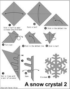 PAPIROFLEXIA EN LA ESCUELA: Copos de Nieve