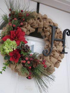 The original reindeer christmas wreath rudolph wreath - Como hacer coronas de navidad ...