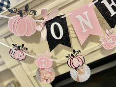 Excited to share this item from my #etsy shop: Pumpkin 1st Birthday Photo Banner, Pumpkin Photo Banner, Our little pumpkin is turning one .Pink and Black Pumpkin  First Birthday Girl Pumpkin 1st Birthdays, Pumpkin Birthday Parties, First Birthdays, Birthday Gifts, Birthday Photo Banner, 1st Birthday Banners, 1st Birthday Photos, Black Pumpkin, Baby In Pumpkin