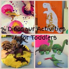 14 easy and simple dinosaur activities for toddlers that anyone can do.   http://www.clareslittletots.co.uk/2014/07/10-dinosaur-activities/
