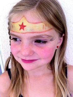 kinderschminken mädchen superheldin schminken wonder woman #fasching #party #makeup