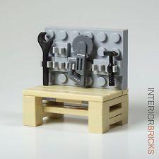 LEGO® Furniture: Garage Workbench & Tools : Custom Set w/ Instructions [minifig]