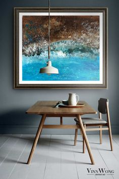 Vinn Wong is an Australian raised Tokyo based Hong Kong contemporary abstract artist. Beautiful Interiors, Beautiful Homes, House Beautiful, Home Decor Styles, Art And Architecture, Contemporary Design, Home Goods, Dining Table, Interior Design