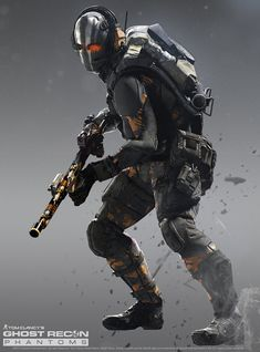 GHOST RECON PHANTOMS -The Support Class(Halloween Edition). Character Concept, Character Art, Character Design, Armor Concept, Concept Art, Futuristic Armour, Sci Fi Armor, Future Soldier, Super Soldier