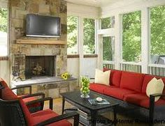 screened in front porch ideas - Google Search