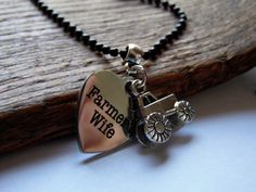 Farmer's Wife Tractor Necklace by Whippoorwill Valley