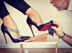 "337 Likes, 22 Comments - Markus M. Mey & ""Schatzi"" (@photographermey) on Instagram: ""A man should always take care of her Louboutins ;-) #sokate #shoeshine #louboutinsokate #highheels…"""