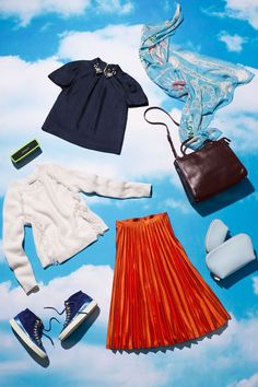 How Fashion People Do Travel Style #refinery29  http://www.refinery29.com/bose-travel-outfits#slide-2  The Plane-To-Party ChameleonA social butterfly always has plans upon arrival, so she's a seasoned pro at going from plane to party without looking crumpled. For her, a pleated skirt is a glam yet wrinkle-proof foundation that still looks elevated with sneakers. Up top, an embellished button-up adds a festive element, which layers perfectly under a fringed sweater during the fl...