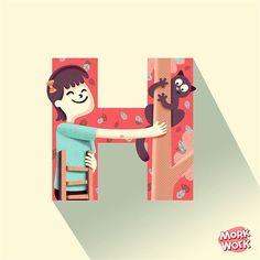 """H"" de Héroe. #morkwork #36daysoftype #36days_H #H #tipografia #type #illustration #heroe #kitty #happy #vector #lettering  #cat #catoftheday #instacat #catsofinstagram #catstagram #gato #pet #petstagram #rescue by morkwork"