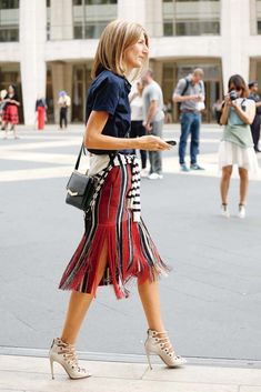 street style | great skirt Apparel style fashion outfit clothing women summer casual