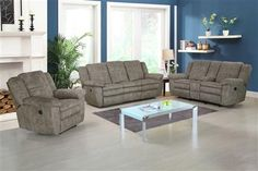 Bronson Sultry Pecan Polyester Living Room Set