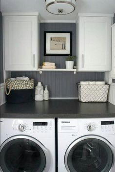 For small space. LOVE the countertop over them to fold clothes on!!!