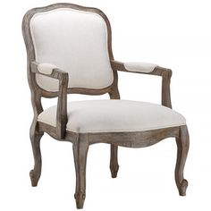 Lark Off-white Cushioned Traditional Accent Chair - Overstock™ Shopping - Great Deals on Living Room Chairs