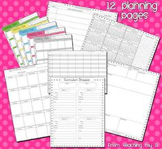 FREE planning printables for homeschoolers and teachers:  curriculum planning  lesson planning  yearly planning  monthly planning  unit planning  curriculum shopping