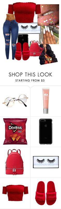 """""""Untitled #7..Christmas is almost here❤️‼️"""" by melaninprinces ❤ liked on Polyvore featuring Retrò, MICHAEL Michael Kors, Huda Beauty and Ivy Park"""