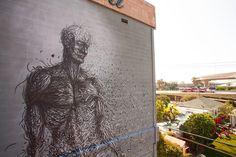 Street Art by DALeast in San Diego, USA 2 - Abhassara mote