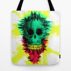 Calavera Disguise Tote Bag by DizzyNicky - $22.00