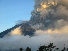 El volcán Tungurahua: Explosiones continuas y emisiones de ceniza en el ...
