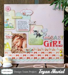Baby Mine page created by Tegan Skwiat for Carta Bella.