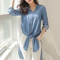 Buy 'Jolly Club – Denim Long Shirt' with Free International Shipping at YesStyle.com. Browse and shop for thousands of Asian fashion items from China and more!