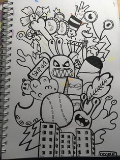 Doodle Art Name, Cute Doodle Art, Doodle Art Drawing, Graffiti Drawing, Graffiti Lettering, Graffiti Art, Drawing Ideas, Art Drawings, Simple Doodles