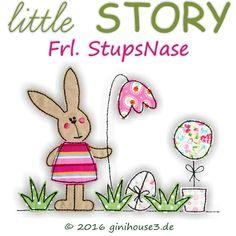 Stickdatei Doodles * little STORY mit Frl. StupsNase