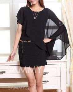 $10.30 Cut Out Scoop Neck Solid Color With Ruffled Sleeve Casual Dress For Women