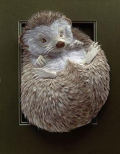 Paper sculpture art by Calvin Nicholls