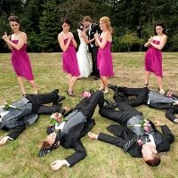 Too Funny Wedding Photo Idea for prom too! and whenever else we all take pics together! @Hannah Mestel Mestel