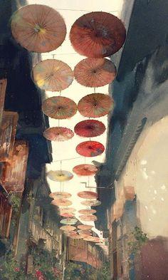 Read Phong cảnh 🌿 from the story 「Sưu Tầm Ảnh Japanese Painting, Chinese Painting, Japanese Art, Art And Illustration, Fantasy Kunst, Fantasy Art, Anime Kunst, Anime Art, Stock Design