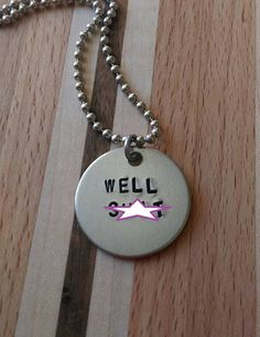 Handstamped Well S Necklace by sassyfrassx3 on Etsy