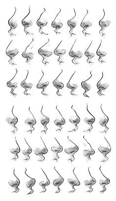 Drawing Nariz Más - Could you do a nose tutorial? Or like a dump if various noses you draw? I've kind of lost my feeling to drawing noses at all angles somehow and I'd like to see some of yours to maybe help? Pencil Art Drawings, Art Drawings Sketches, Body Sketches, Bts Drawings, Drawing Techniques, Drawing Tips, Drawing Ideas, Drawing Stuff, Nose Drawing