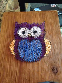 Owl string art! #DIY #owl