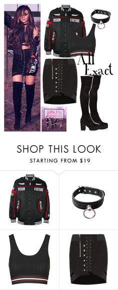 """""""Jesy for the album cover Glory Days"""" by leigh-jena ❤ liked on Polyvore featuring Kokon To Zai, Topshop and Anthony Vaccarello"""