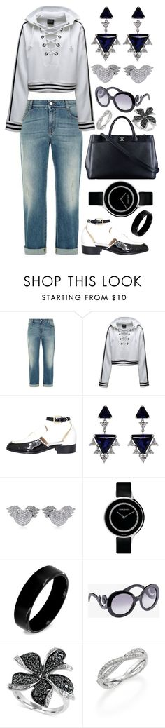 """2833"" by alex94a ❤ liked on Polyvore featuring STELLA McCARTNEY, Puma, Chanel, CARAT*, Theo Fennell, Georg Jensen, West Coast Jewelry, Prada, Effy Jewelry and De Beers"