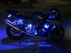 Motorcycle Helmet Design, Blue Motorcycle, Motorcycle Lights, Futuristic Motorcycle, Black And Purple Wallpaper, Cute Disney Outfits, Bike Photography, Cool Motorcycles, Super Bikes