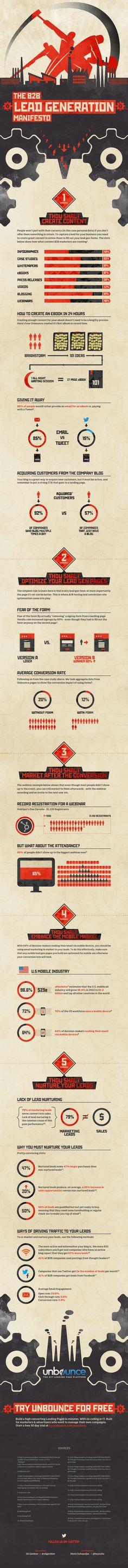 The B2B Lead Generation Manifesto #Infographic #B2B