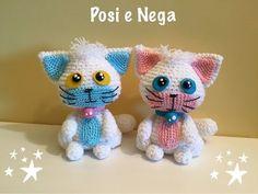 gatto Posi e Nega Amigurumi - YouTube