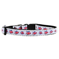 Mirage Pet Graffiti Union Jack UK Flag Nylon Ribbon Dog Collar * Trust me, this is great! Click the image. : Collars for dogs
