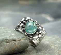 Its even in my size.... Written in Stone - Fine Silver Ring - PMC - Size 7 1/2 Ring on Etsy, $225.00