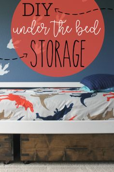 Looking for under bed storage DIY ideas? This storage drawer looks great, is easy to make in an afternoon, and won't break the bank. Diy Storage Under Bed, Diy Storage Crate, Garage Storage Shelves, Diy Kitchen Shelves, Kids Storage, Small Storage, Storage Ideas, Storage Solutions, Organization Ideas