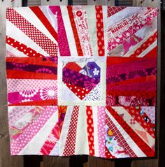 Easy to make Heart Baby quilt using one simple quilt block. Batiks work great and this would also be a good wall hanging for Valentine's day. Baby Quilt Tutorials, Cool Walls, Cupid, Quilting Projects, Baby Quilts, Quilt Blocks, Valentines, Red, Blog
