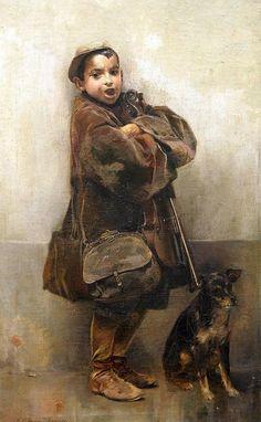 El niño del violín. (1905) Museo de Bellas Artes de Sevilla. Donación de don Alfonso Grosso. Obra de José García Ramos
