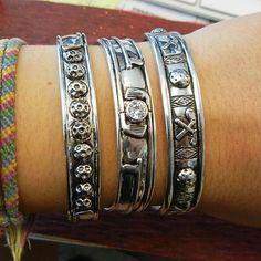 Golf Bangle Cuff Bracelets by Navika.