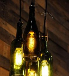 Glassflasker til lysekrone!