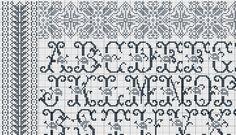 Point de croix *m@ Cross stitch Nouveau gazette sampler A